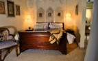 Luxury bedroom at Cleopatra Mountain Farmhouse, luxury hotel in South Africa