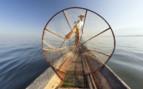 Inle Lake fisherman and net