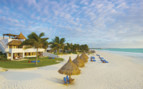 White sand beach at the Belmond