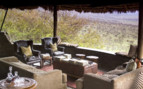 The terrace with views across the wilderness of Tanzania