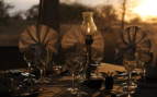 Dining detail at Olakira Camp, luxury camp in Tanzania