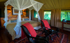 Bedroom guest tent at Selinda Camp, luxury camp in Botswana