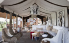 The lounge area at Singita Mara River Tanted Camp, luxury camp in Tanzania