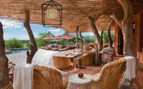 Outdoor lounge area at Tswalu, luxury safari camp in South Africa