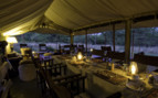 Dinner lounge at Dunia Camp, luxury camp in Tanzania