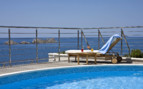 The pool with sunbed at Hotel More, luxury hotel in Croatia