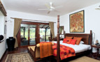 Bedroom at Samode Safari Lodge, luxury hotel in India