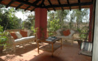 Verandah at Shergarh hotel