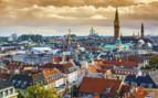 Aerial view across Copenhagen
