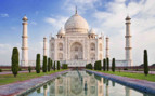 The Taj Mahal in daylight