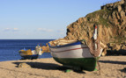 Fishing Boats on the Sand in Valencia
