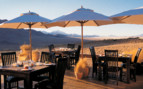 The terrace at Wolwedans Dunes Lodge, luxury lodge in Namibia