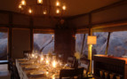 Dinner at Wolwedans Boulders, luxury camp in Namibia