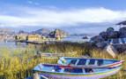 Fishing Boats Moored on Lake Titicaca