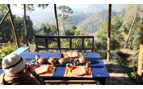 Lunch at Kumaon Village Houses, luxury hotel in India