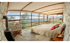 Panoramic views from the bedroom