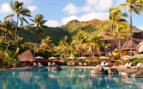 Luxury pool at the Hilton Moorea Resort