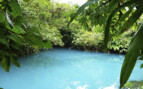 Blue lagoon in Central Pacific Costa Rica