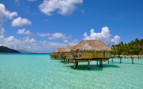 Over water bungalows exteriors