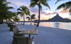 Beach dining at Intercontinental Bora Bora