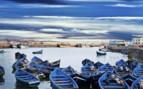 Essaouira blue boats