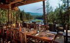 Outdoor dining at Paws Up luxury camp