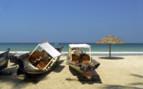 Ngapali beach boats