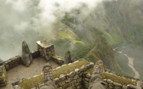 Looking down on Machu Picchu