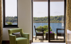 The suite terrace with sea vistas at Monte Mulini hotel