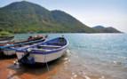 Boats on Lake Malawi