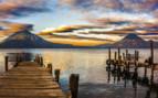 Mountain View of Lake Atitlan