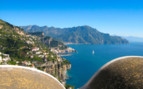 The view from the rooftop at Monastero Santa Rosa