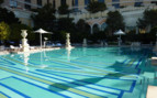 The pool at the hotel