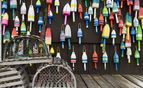 Coloured buoys in Maine