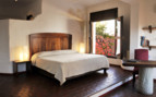 Bedroom at Casa Oaxaca, luxury hotel in Mexico