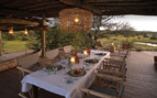 The dining area at Singita Faru Faru Lodge