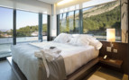 Glass front double bedroom