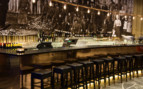 The bar at Copperhill Mountain Lodge, luxury hotel in Sweden