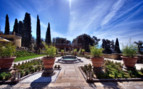 The hotel garden at Il Salviatino, luxury hotel in Italy