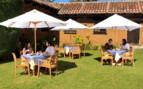 The garden restaurant at the hotel