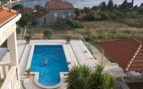 Aerial view of the swimming pool at Villa Vilina hotel