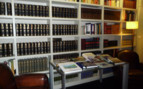 The library at Miro Hotel, luxury hotel in Spain