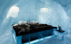The deluxe bedroom at Ice Hotel