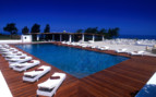 The swimming pool at Capofaro, luxury hotel Italy