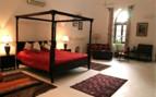 Luxury bedroom at Shapura Bagh hotel
