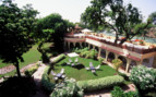 Exterior and garden at Rohet Garh hotel