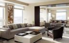 The living room area at St Regis San Francisco hotel