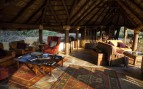 The lounge area at Olivers Camp, luxury camp in Tanzania