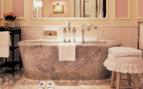 Bathtub in luxury bathroom