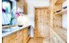 Wooden kitchen at Casa Antersies